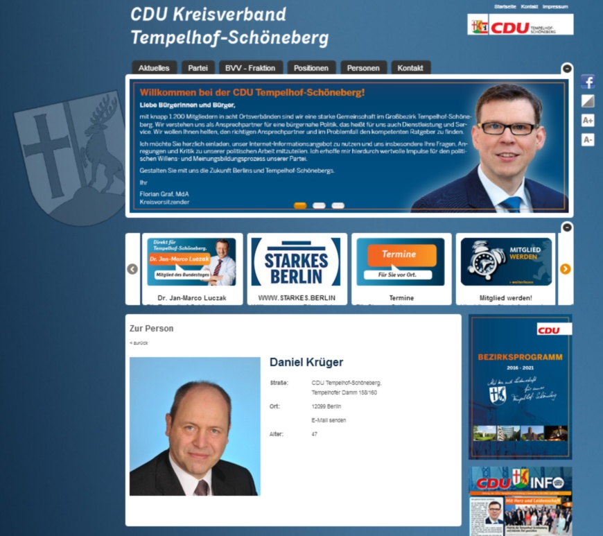 Screenshot CDU Tempelhof-Schöneberg