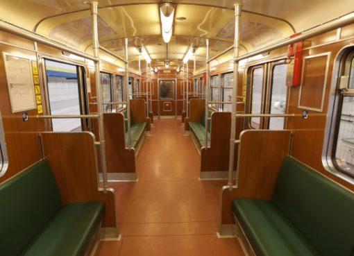 "Berliner U-Bahn Typ ""Dora"" Innenraum"