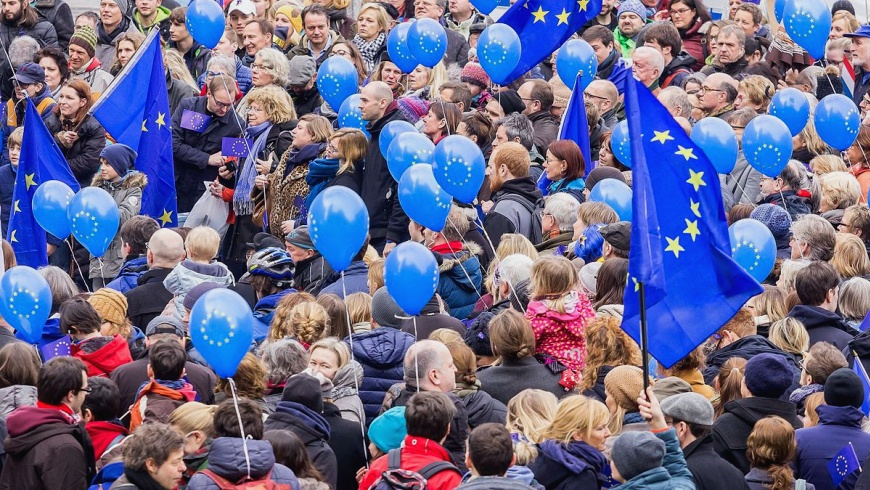 "Demonstration ""Pulse Of Europe"""