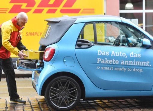 DHL/smart Kofferraum-Zustellung
