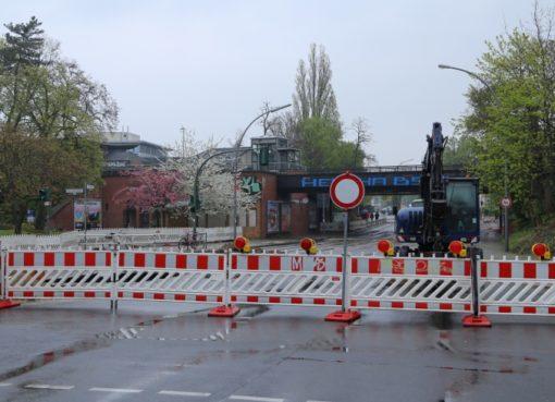 Attilastraße gesperrt