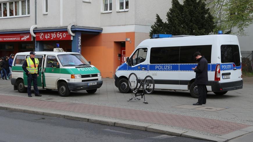 Radfahrsicherheits-Kontrollen der Polizei Berlin