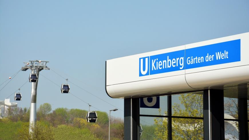 U-Bhf. Kienberg mit Eingang zur IGA 2017