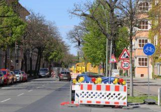 Baustelle Rubensstraße