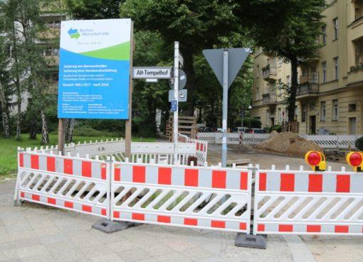 Baustelle der Berliner Wasserbtriebe