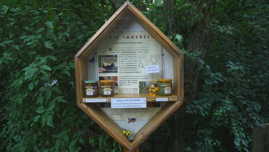 Honigvitrine in der Marienhöhe