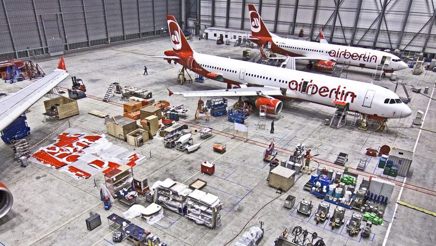 Technik-Hangar / airberlin