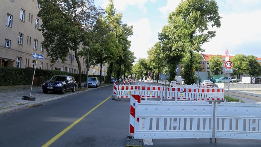 Bauarbeiten Alarichstraße