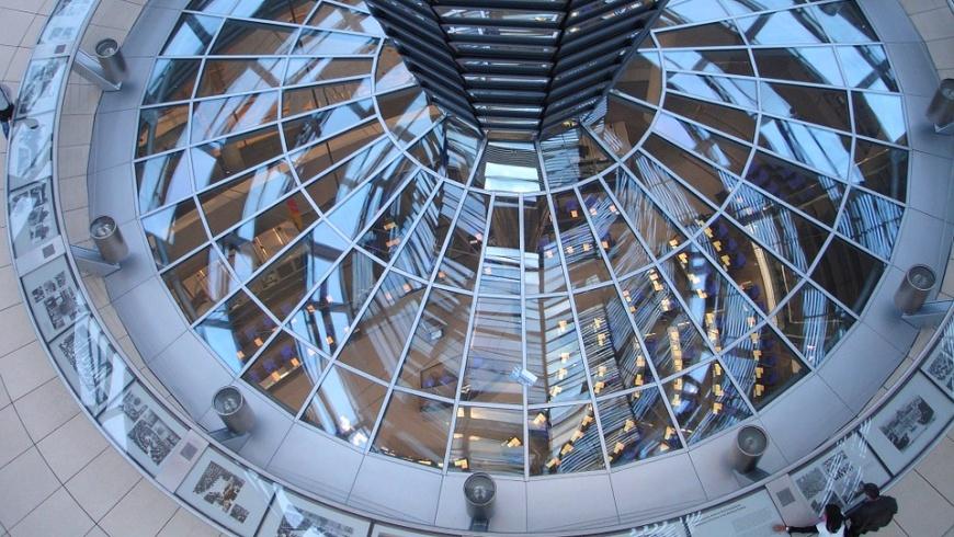 Blick aus der Bundestagskuppel: