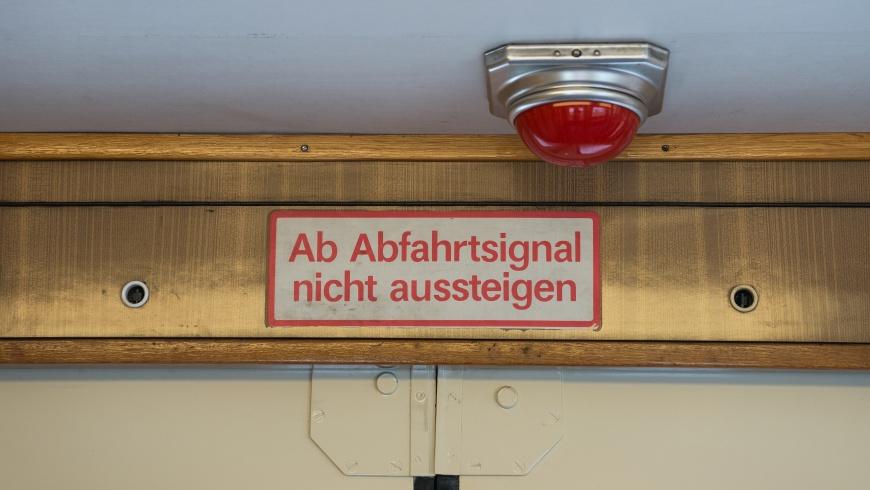 Türsignal der U-Bahn-Baureihe E III
