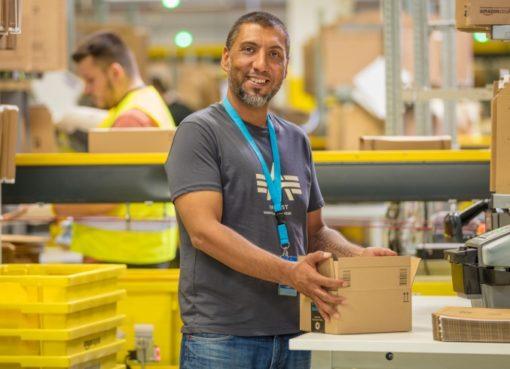 Amazon Mitarbeiter in Brieselang