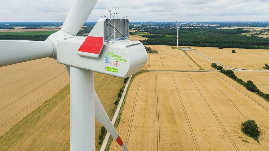 Windenergieanlagen der Berliner Stadtwerke