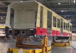 Neue S-Bahn im Bau