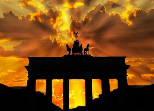 Sonnenuntergang am Brandenburger Tor