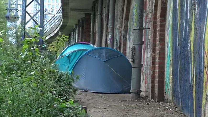 Obdachlosen-Camp