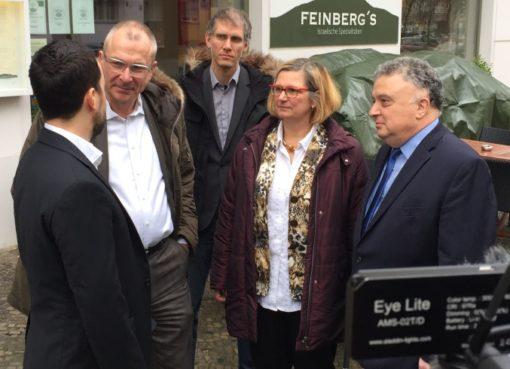 Solidaritätsbesuch bei Yorai Feinberg