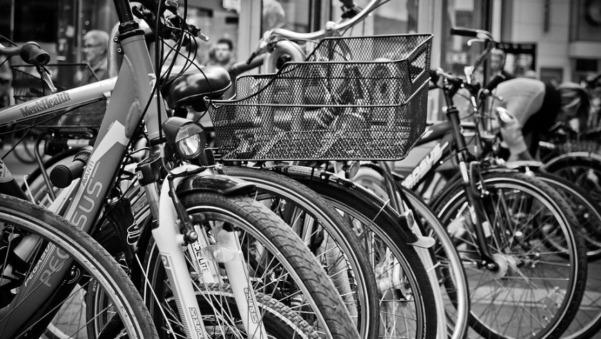 Fahrräder im Fahrradlager