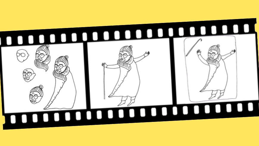 "Sophia Tabatadze ""How to Draw a Grandmother"""