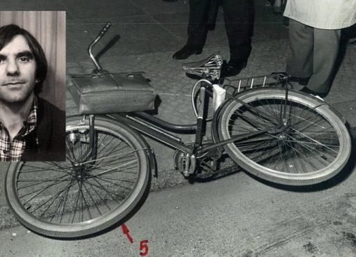 Fahrrad mit Aktentasche