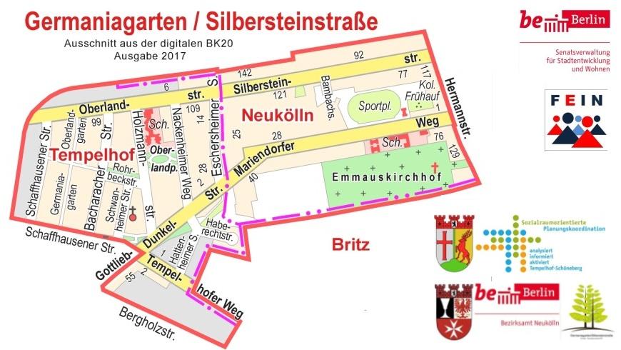Fördergebiet Germaniagarten/Silerbersteinstraße