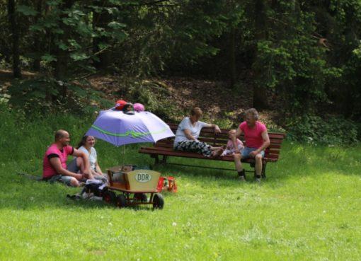 Vatertagsidyll: Famlienausflug