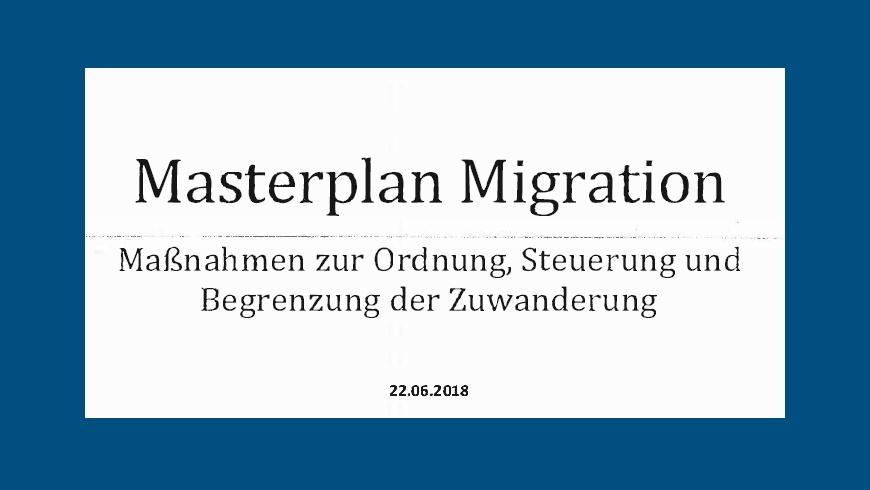 Masterplan Migration 22.06.2018