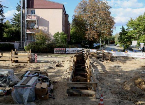 Rohrbruch-Baustelle Kamenzer Damm