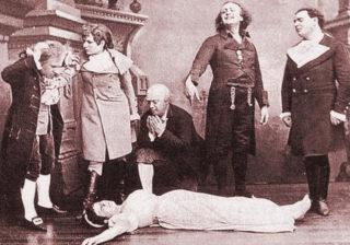 "Uraufführung von Offenbach's Oper ""Les contes d'Hoffmann"" in Paris"