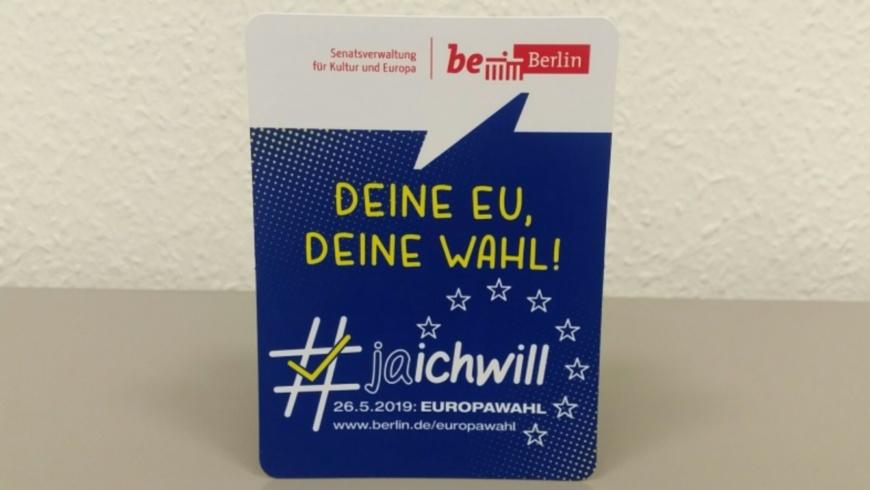 Pocketflyer zur Europawahl 2019