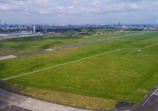 Luftaufnahme des Tempelhofer Feldes