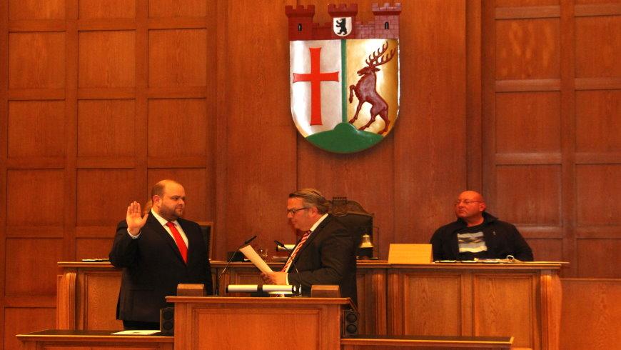 Vereidigung Stadtrat Matthias Steuckardt