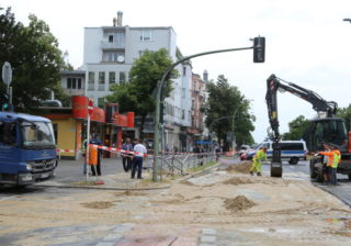 Wasserrohrbruch in Alt-Tempelhof