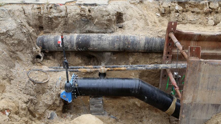 Baustelle Wasserrohrbruch Alt-Tempelhofch Alt-Rempelhof