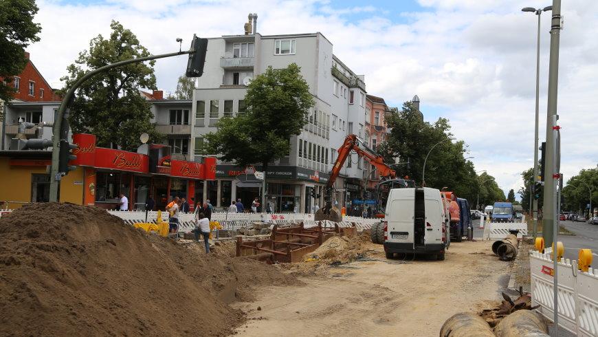 Baustelle Wasserrohrbruch Alt-Tempelhof - Foto: tsz
