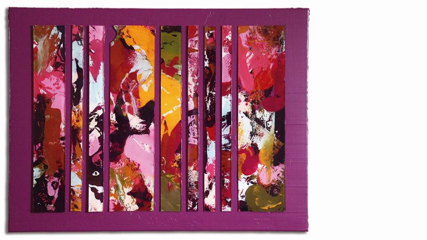 Duo CRISIS: ego on dark fuchsia, Acrylfarbe auf Plexiglas und Leinwand, 80 x 60cm - 2020