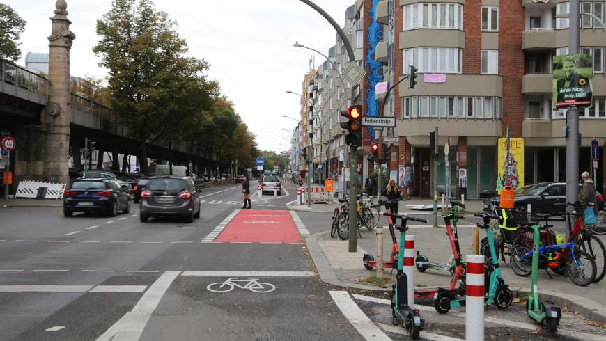 Radstreifen Bülowstraße