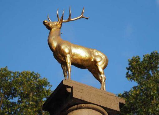 Goldener Hirsch auf dem Hirschbrunnen