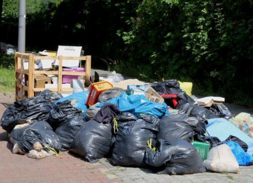 Wilde Abfall-Ablagerung Rixdorfer Straße